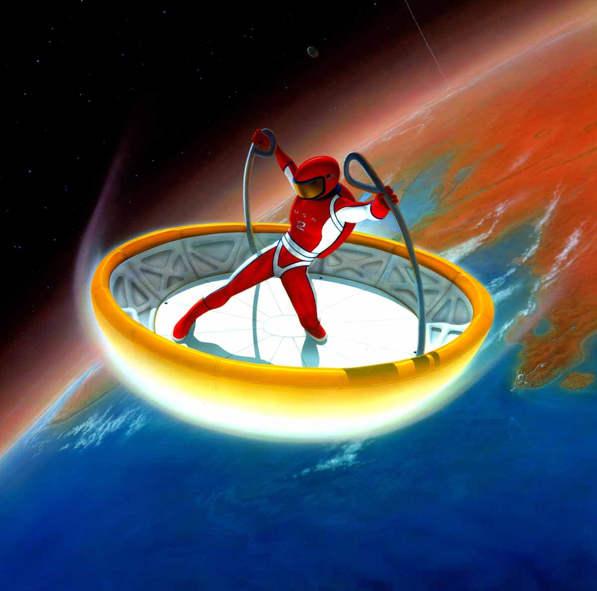Skysurfing human weight-shift steered entry vehicle